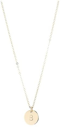 ABLE Mini Tag B Necklace (Gold) Necklace
