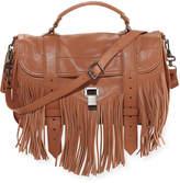 Proenza Schouler PS1 Fringe Medium Satchel Bag, Brown