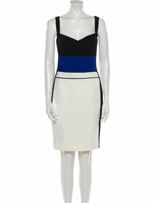 Narciso Rodriguez Colorblock Pattern Mini Dress w/ Tags Black