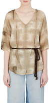 Pas De Calais Women's Tie-Dyed Cotton-Blend Belted Top
