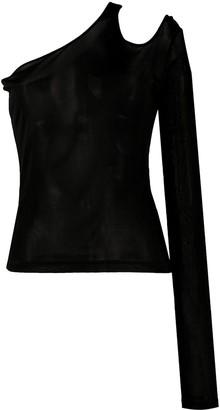 Andrea Ya'aqov Fine-Knit Asymmetric Top