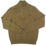 Polo Ralph Lauren Mens 1/4 Zip Heathered Mock Turtleneck Sweater