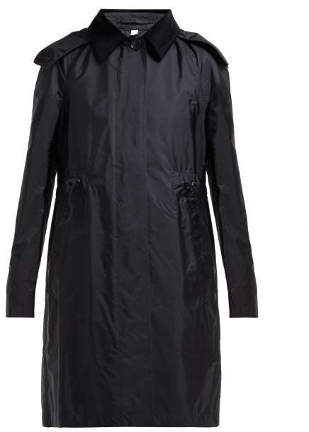 Burberry Gullane Drawstring Waist Trench Coat - Womens - Black