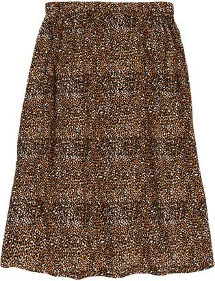 Treasure & Bond Leopard Print Midi Skirt