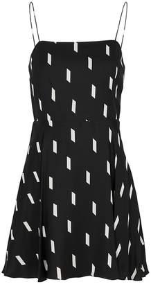 Alice + Olivia Glinda Dash-print Mini Dress