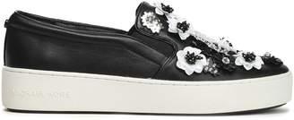 MICHAEL Michael Kors Embellished Leather Slip-on Sneakers
