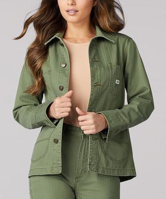 Lee Women's Denim Jackets VINTAGE - Vintage Olive Vintage Modern Loco Chore Denim Jacket - Women