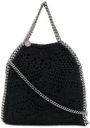 Stella McCartney Falabella crochet tote bag