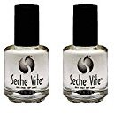 Seche Vite Dry Fast Top Coat Clear High Gloss Professional Nail Polish - 0.5oz Pack of 2