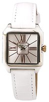 Kenneth Cole New York Women's KC2848 Classic Square Case Rose Gold White Strap Watch