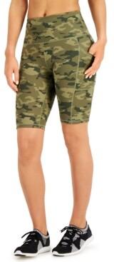 Ideology Camo Pocket Bike Shorts, Created for Macy's