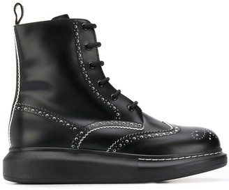 Alexander McQueen Punch Hole 40mm Ankle Boots