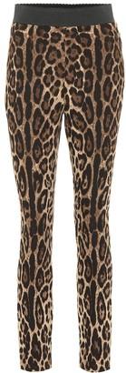 Dolce & Gabbana Leopard-print stretch leggings