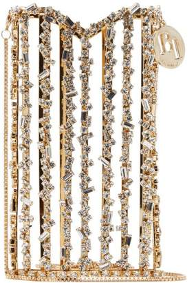 Rosantica Oasis Crystal-embellished Cross-body Phone Case - Womens - Gold Multi