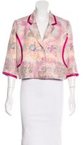 Matthew Williamson Embroidered Cropped Blazer