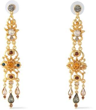 Ben-Amun Ben Amun 24-karat Gold-plated Crystal Earrings