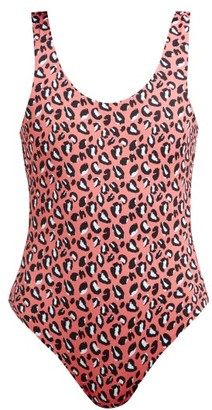 Reina Olga For A Rainy Day Leopard-print Swimsuit - Womens - Pink Multi