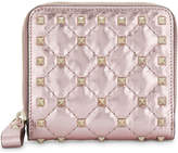 Valentino Rockstud quilted leather purse