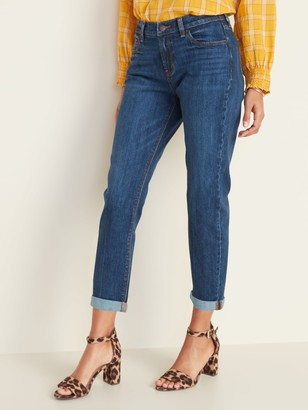 Old Navy Mid-Rise Boyfriend Straight Jeans for Women