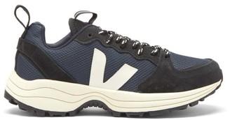 Veja Venturi Logo-applique Mesh And Suede Trainers - Navy Multi