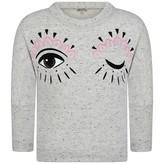 Kenzo KidsGirls Speckled Grey Wink Print Sweater