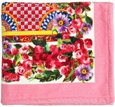 Dolce & Gabbana Mambo Print Cotton Beach Towel