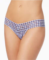 Hanky Panky Check Please Low-Rise Packaged Lace Thong 7Q1581P