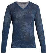 Etro Linen-blend Knit Sweater