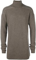 Rick Owens funnel neck jumper - men - Polyamide/Cashmere/Wool - One Size