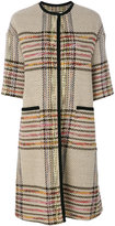 Etro checked coat - women - Cotton/Acrylic/Polyamide/Wool - 46