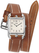 Hermes Cape Cod Watch on a Double Tour Natural Barenia Calf Strap