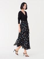 Diane von Furstenberg Sharpay Chiffon Midi Wrap Dress