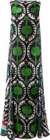 Afroditi Hera multi-pattern column gown