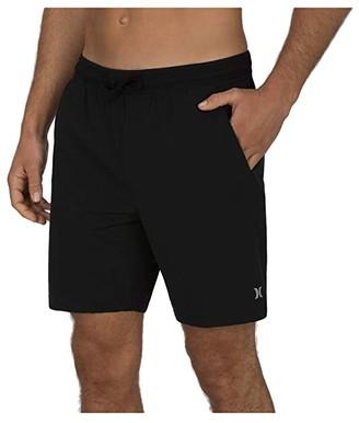 Hurley 18 Phantom Alpha Boardshorts (Black) Men's Swimwear