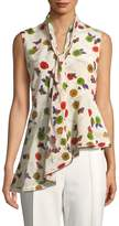 Jason Wu Women's Asymmetrical Floral-Print Peplum Top