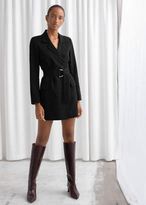 And other stories D-Ring Belted Mini Blazer Dress