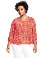 Old Navy Relaxed Plus-Size Floral-Print Shirred Blouse