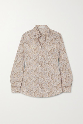 Etro Paisley-print Cotton-blend Oxford Shirt - Ivory