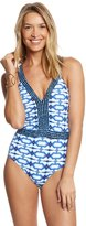 Michael Kors Swimwear Summer Breeze Cross Back One Piece Swimsuit 8152083