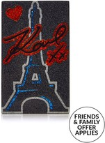 Karl Lagerfeld Love From Paris Minaudiere Bag- Black