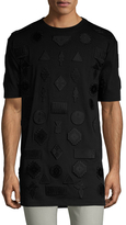 Marcelo Burlon County of Milan Embroidered Patch T-Shirt