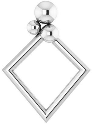 Diamond2deal 14K White Gold 16.1x11.8 mm Geometric Pendant