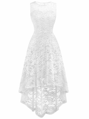 FAIRY COUPLE Women`s Hi-Low Halter Neck Vintage Formal Evening Party Cocktail Dress DL022B(M