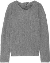 Theory Twylina Split-back Ribbed Cashmere Sweater - Gray