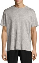 ATM Anthony Thomas Melillo Linen Relaxed-Fit Crewneck T-Shirt, Light Gray