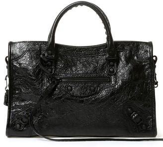 Balenciaga Small City Stud Detail Shoulder Bag