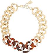 BCBGMAXAZRIA Tortoise Plate Chain Necklace