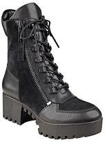 KENDALL + KYLIE Phoenix Leather & Suede Combat Booties