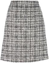 Lanvin tweed checked skirt - women - Cotton/Polyester/Viscose/Silk - 36