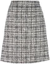 Lanvin tweed checked skirt - women - Silk/Cotton/Acrylic/Wool - 36